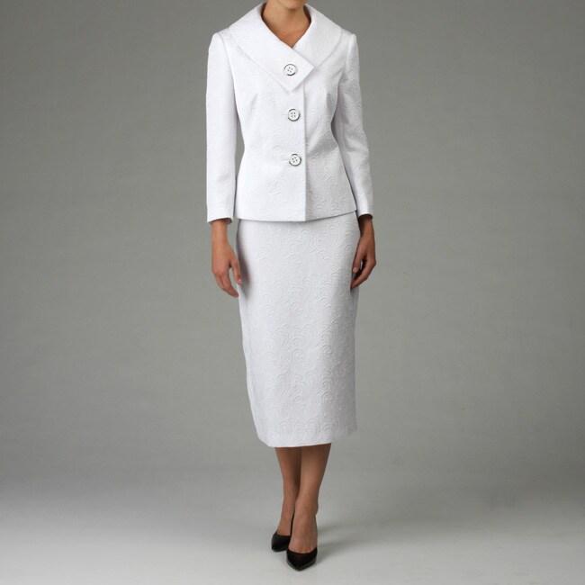 meyer s white jacquard skirt suit 12722147