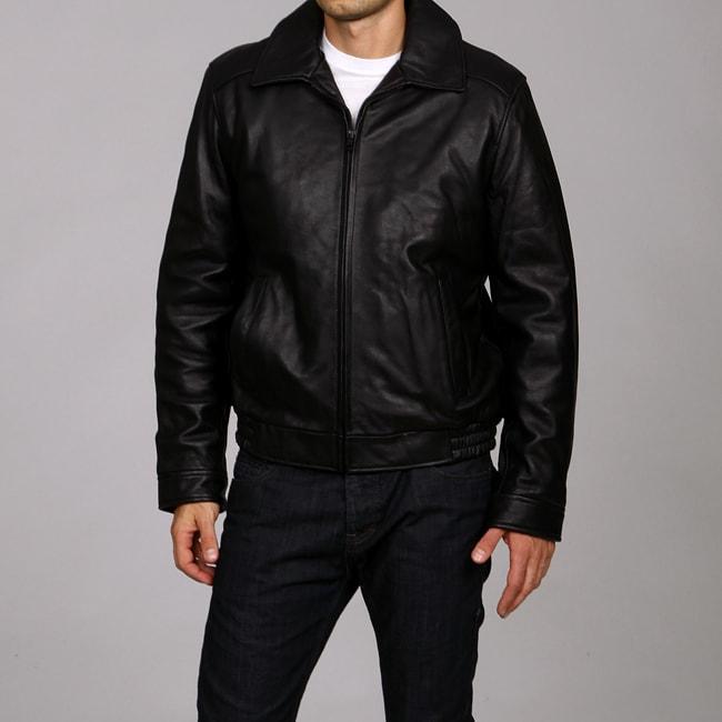 Tommy Hilfiger Men's Smooth Leather Bomber Jacket
