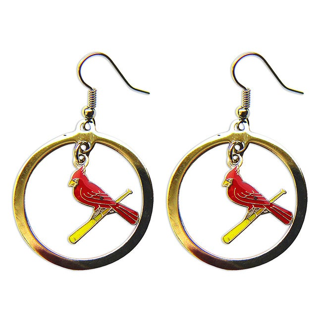 St Louis Cardinals Dangle Logo Earrings