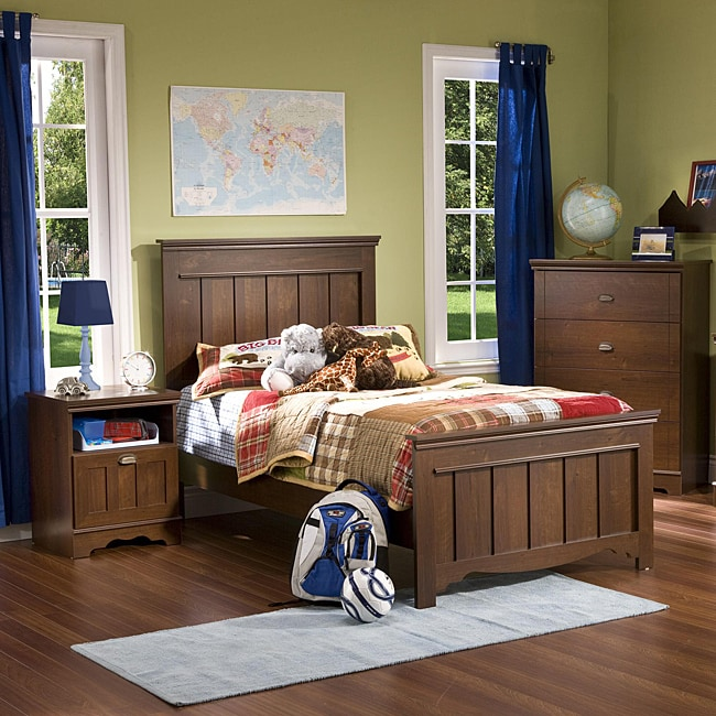 mini suite 3 piece twin size youth bedroom set overstock shopping