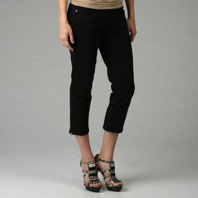Jag Women's 'Lexie' Crop Twill Zipper-leg Pants