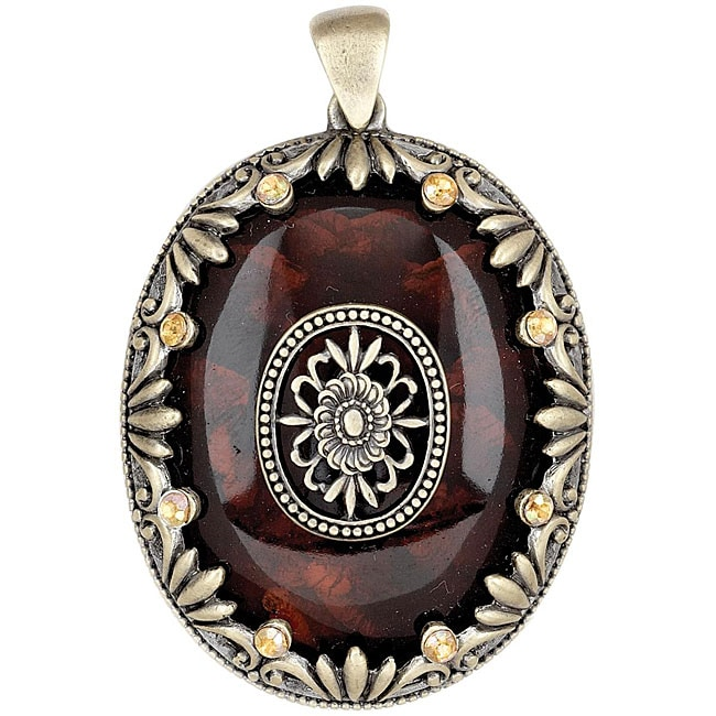 Blue Moon Global Nomad Resin Oval Pendant