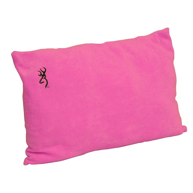 Browning Fleece Micro Fiber Pink Camping Pillow