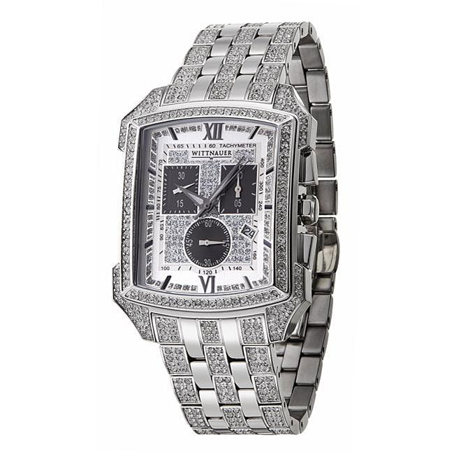 Wittnauer Men's Crystal Stainless Steel Tachymeter Watch