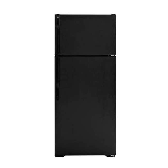 GE 18.2 Cubic-feet Top-freezer Black Refrigerator