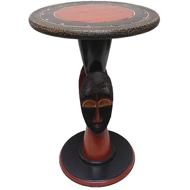 Wooden 2-sided 'Adofo' Mask Table (Ghana)
