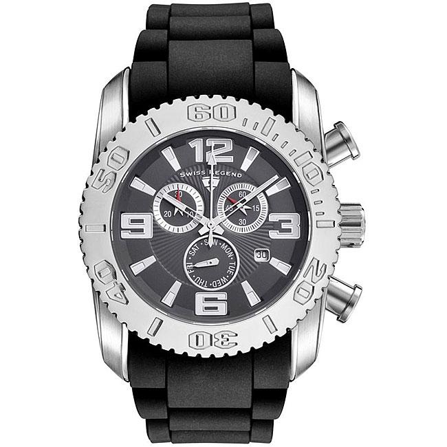 Swiss Legend Men's Steel Commander Grey Dial Chronograph Watch