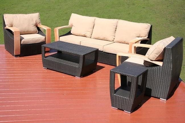 Barcelona 5-piece All-weather Wicker Patio Furniture Set