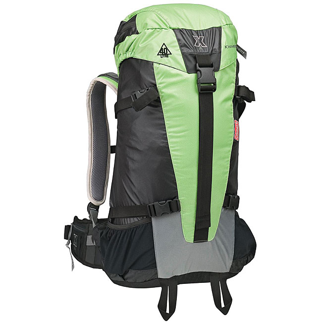Coleman Green Backpack with Frame