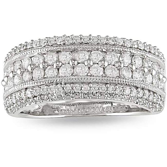 14k White Gold 1ct TDW Diamond Fashion Ring (G-H, I1-I2)
