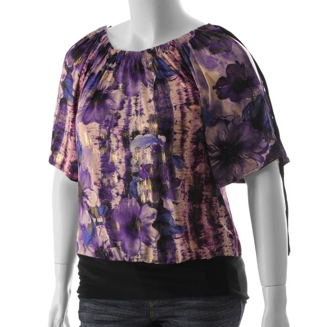 be lush women 39 s plus size banded bottom shirt 12750154