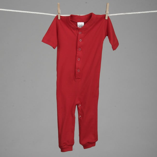 Aegean Infant Boys Red Sports Long Johns Sleeper