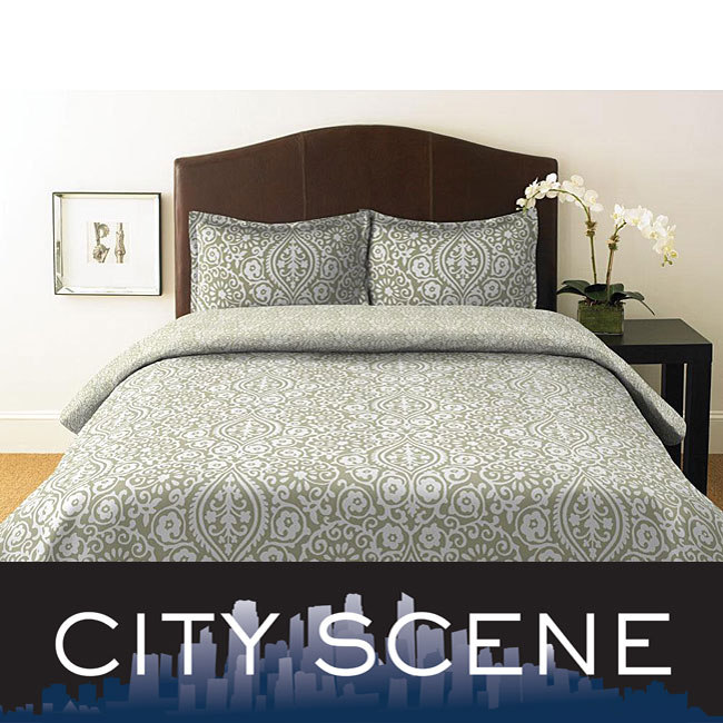 City Scene Henna 3 Piece Mini Duvet Set 12753038