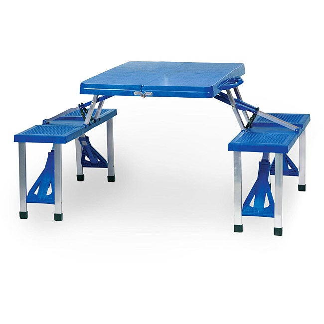 Picnic Time Blue Folding Table with Seats at Sears.com