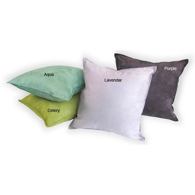Suede 18-inch Decorative Pillows (Set of 2)