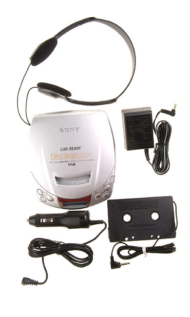 Sony Discman & Car Adaptor Kit