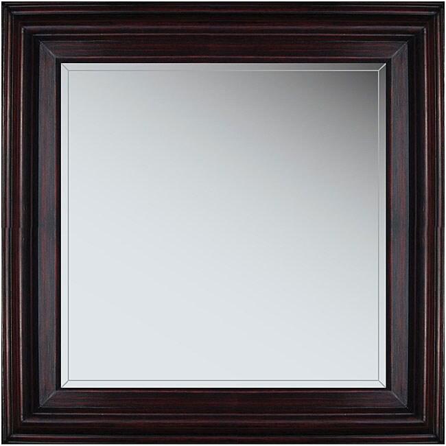 Marin 21-inch Cherry Wood Framed Mirror