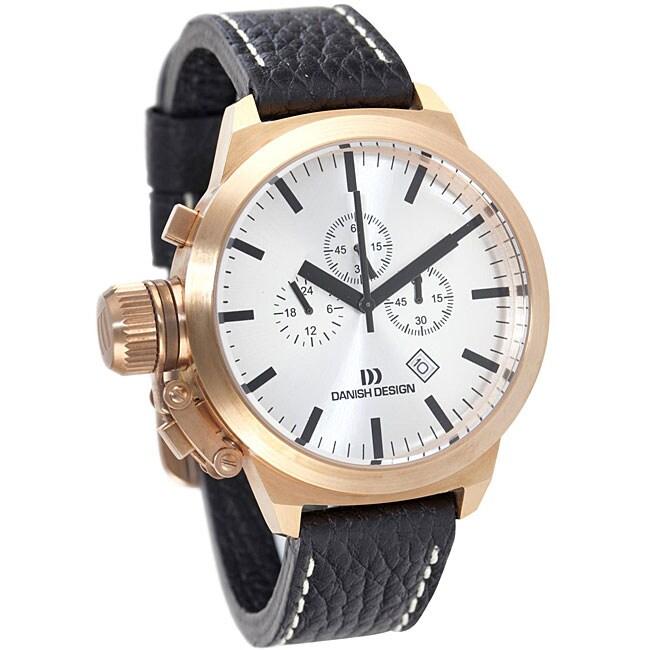 Danish Design Men's Rose Goldtone Stainless Steel Chronograph Watch