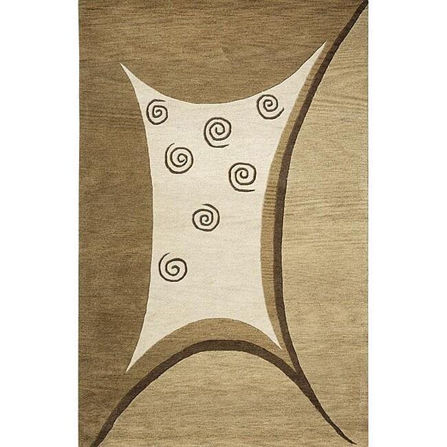 Alliyah Handmade Beige New Zealand Blend Wool Rug (8' x 10')