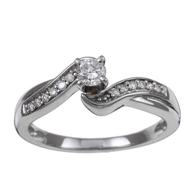 10k White Gold 1/3ct TDW Diamond Engagement Ring (H, I2)