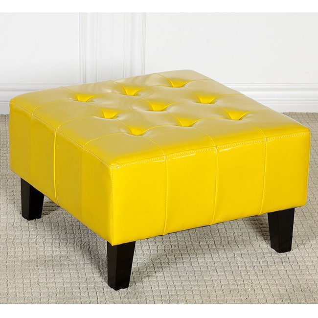 Ethan Children's Yellow Patent Leather Ottoman