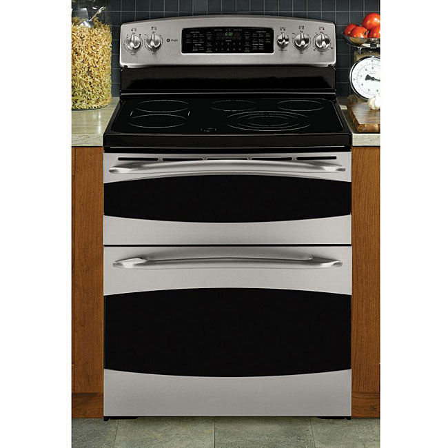 Ge profile steel 30 inch freestanding electric range double oven 12914842 - Inch electric range reviews ...