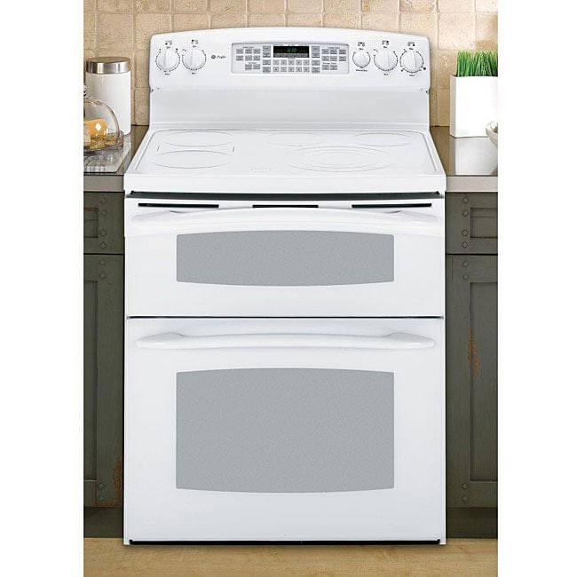 Ge profile white 30 inch freestanding electric range double oven 12914843 - Inch electric range reviews ...