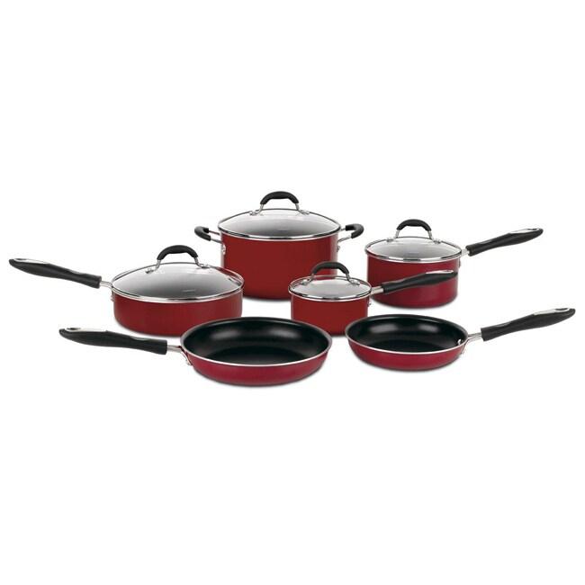 Cuisinart Advantage 10-piece Nonstick Red Cookware Set