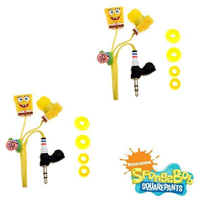 SpongeBob SquarePants 3D Earbud Headphones (Case of 2)