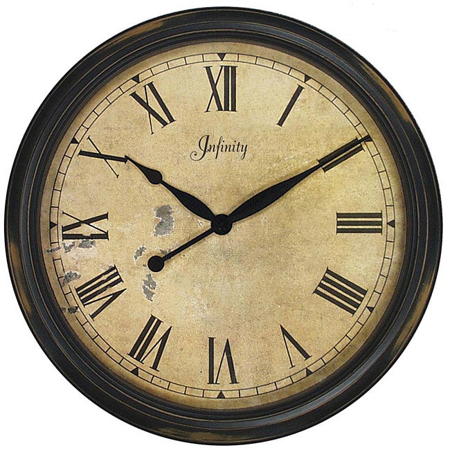 the grand large distressed resin wall clock 12920173 overstock shopping great