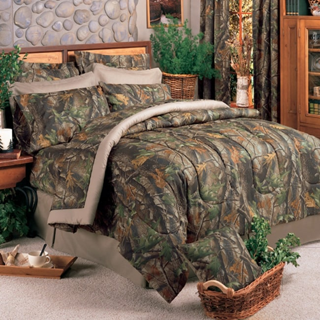 Camo Queen Size Bed In A Bag With Sheet Set 12928159