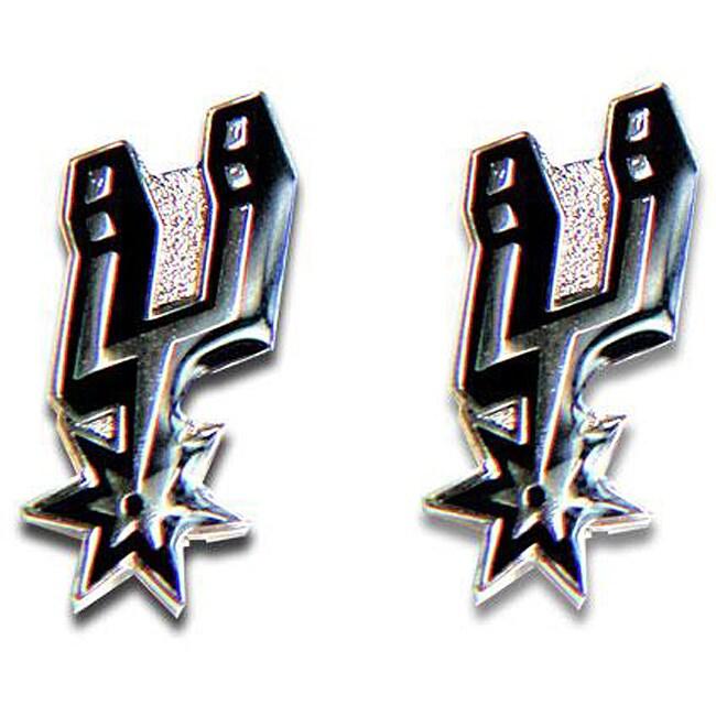San Antonio Spurs NBA Charm Post Stud Logo Earring Set