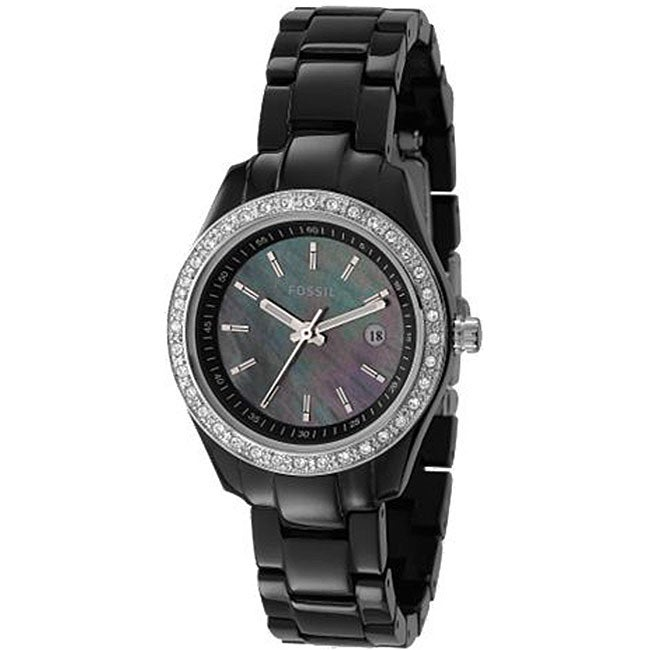 Fossil ES2436 Women's 'Stella' Skinny Black Glitz Watch