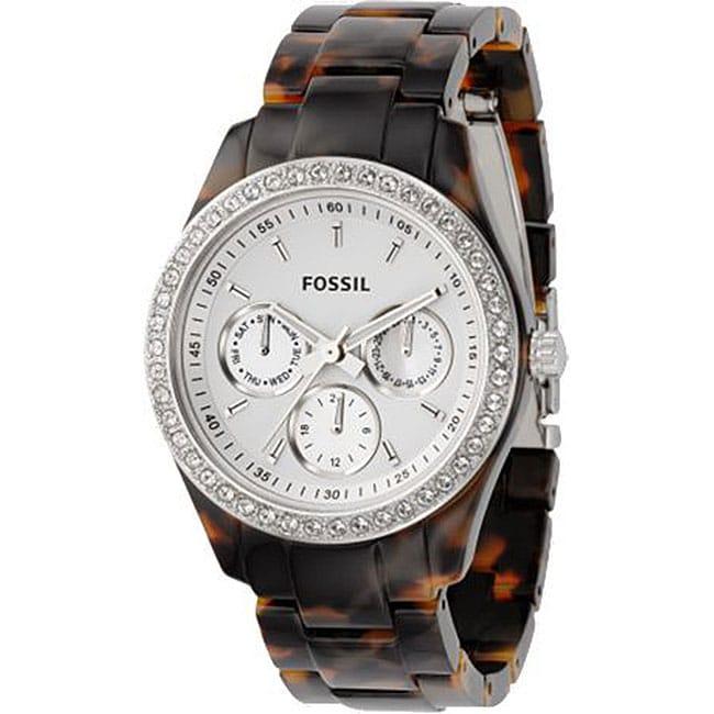 Fossil ES2456 Women's 'Stella' Faux Tortoise Glitz Watch