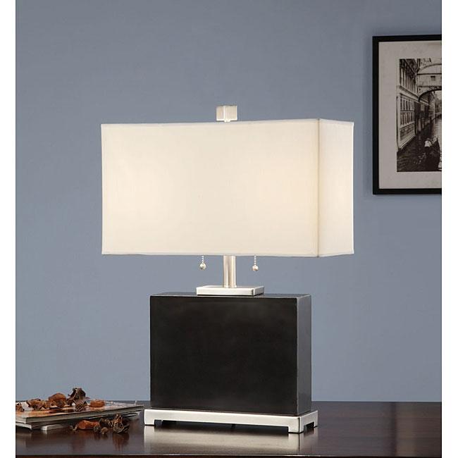 Indoor 2-light Black Marble Table Lamp
