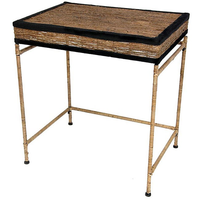 Banana Leaf 24-inch Woven Console Table (China)