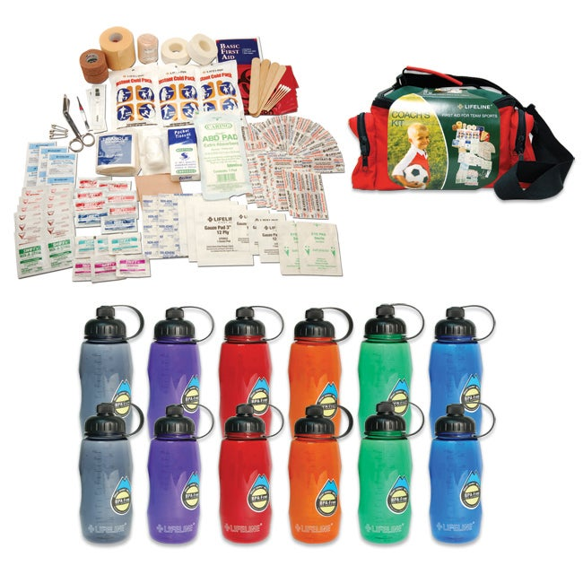 Lifeline Waterbottles Team Sports Coaches Kit Hydration Bundle