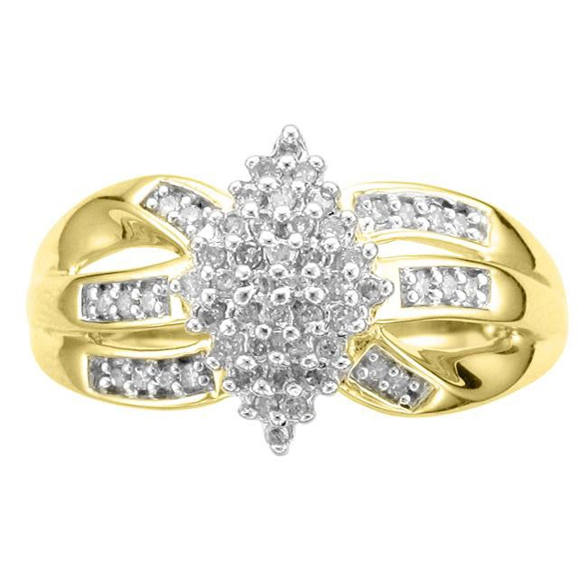 Unending Love 14k Gold Vermeil 1/4ct TDW Diamond Fashion Ring (K-L, I1-I2)