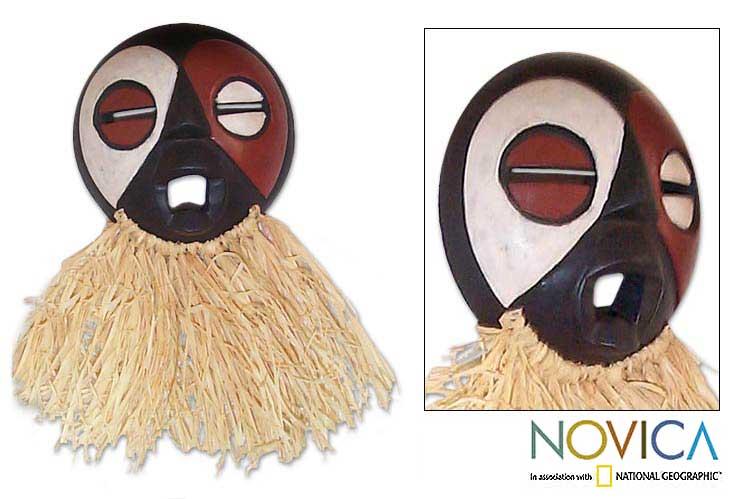 Gabonese 'Fang Tribe Harvest' Wood Mask (Ghana)