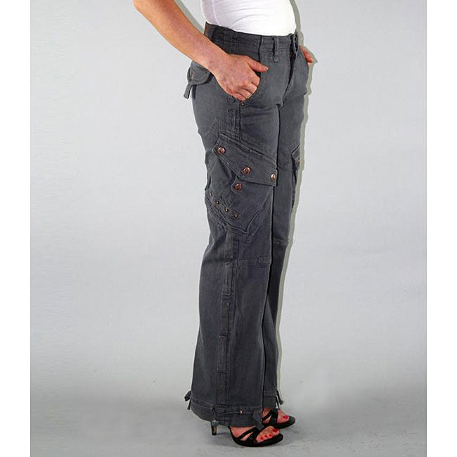 Institute Liberal Womens Grey Twill Cargo Pants