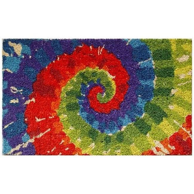 Tie-dye Coconut Fiber 30-inch Doormat