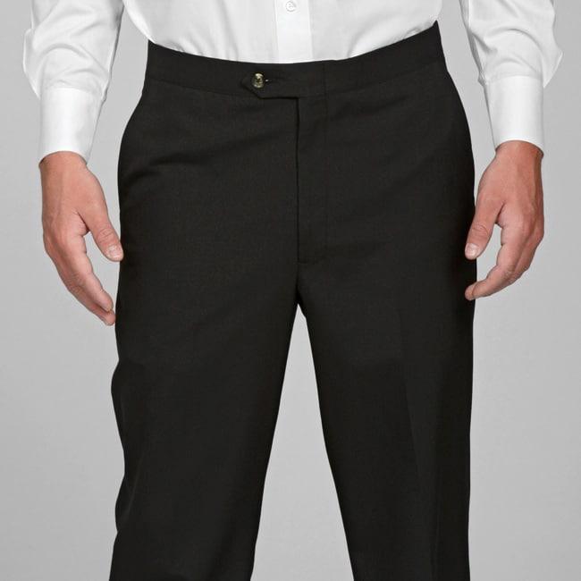 Sansabelt Men's 4 Seasons Black Flat-front Dress Pants