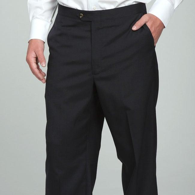 Sansabelt Men's 4 Seasons Navy Flat-front Dress Pants