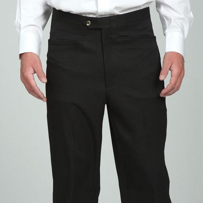 Sansabelt Men's Black Gabardine Twill Trousers