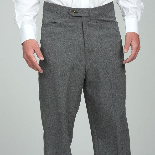 Sansabelt men's Grey Gabardine Twill Trousers
