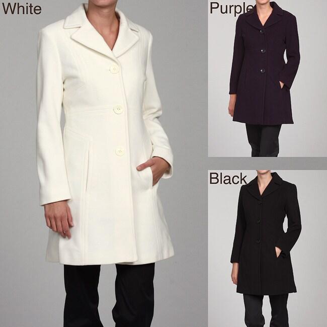 Anne Klein Women's Wool Walker Coat