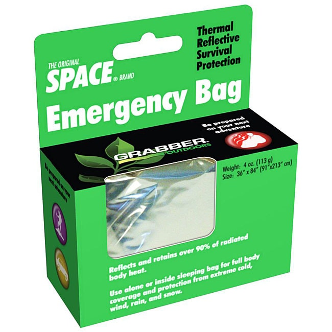 Superinsulator Space Brand Silver Emergency Thermal Survival Bag