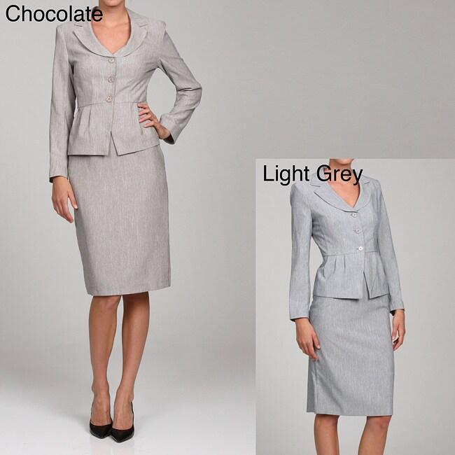 First Lady Women's Peplum Jacket and Skirt Set