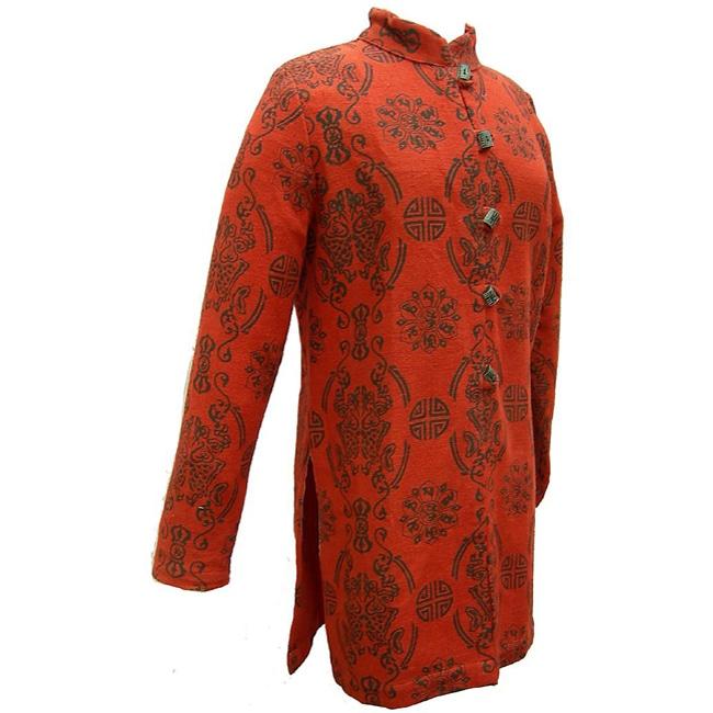 Women's Cotton Lucky Red Tunic Jacket (Nepal)