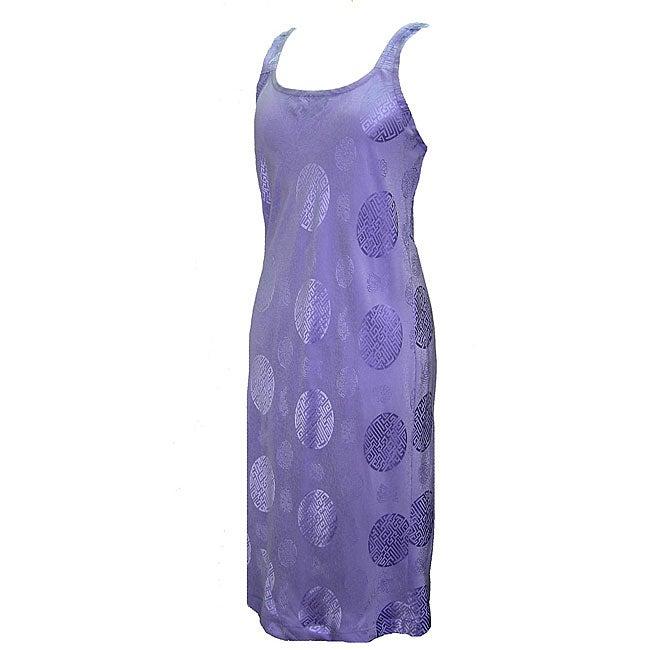 Women's Lavender Silk Slip Dress (Nepal)